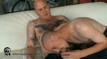 Hairy Tatted Boxer Dominates Femme Twink Bottom - Lorne Rox & Skittles
